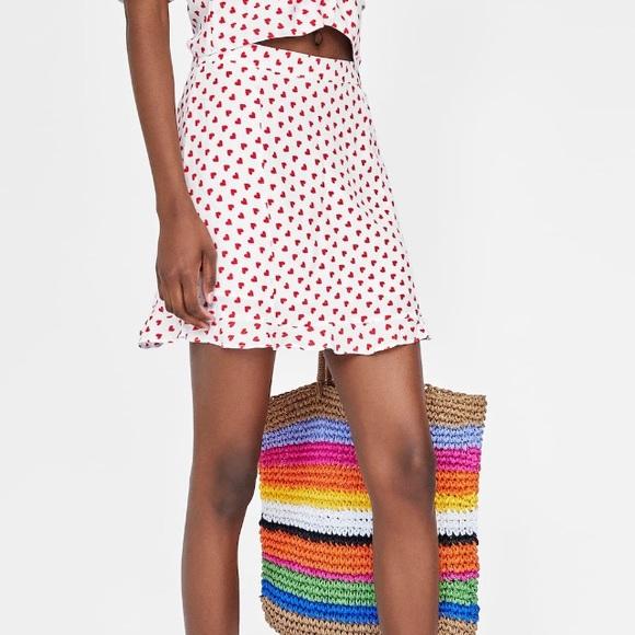 Zara Dresses & Skirts - Zara ❤️ heart printed skirt